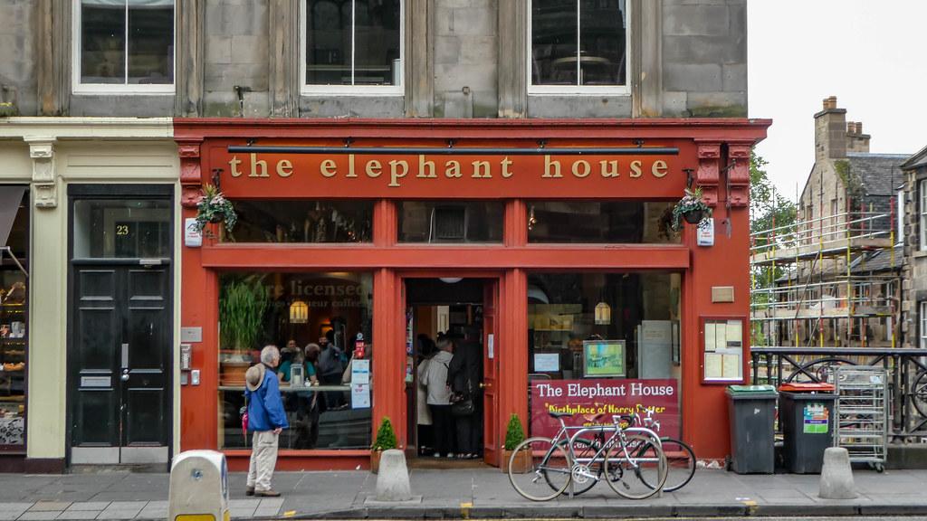 Harry Potter The Elephant House lieux à visister