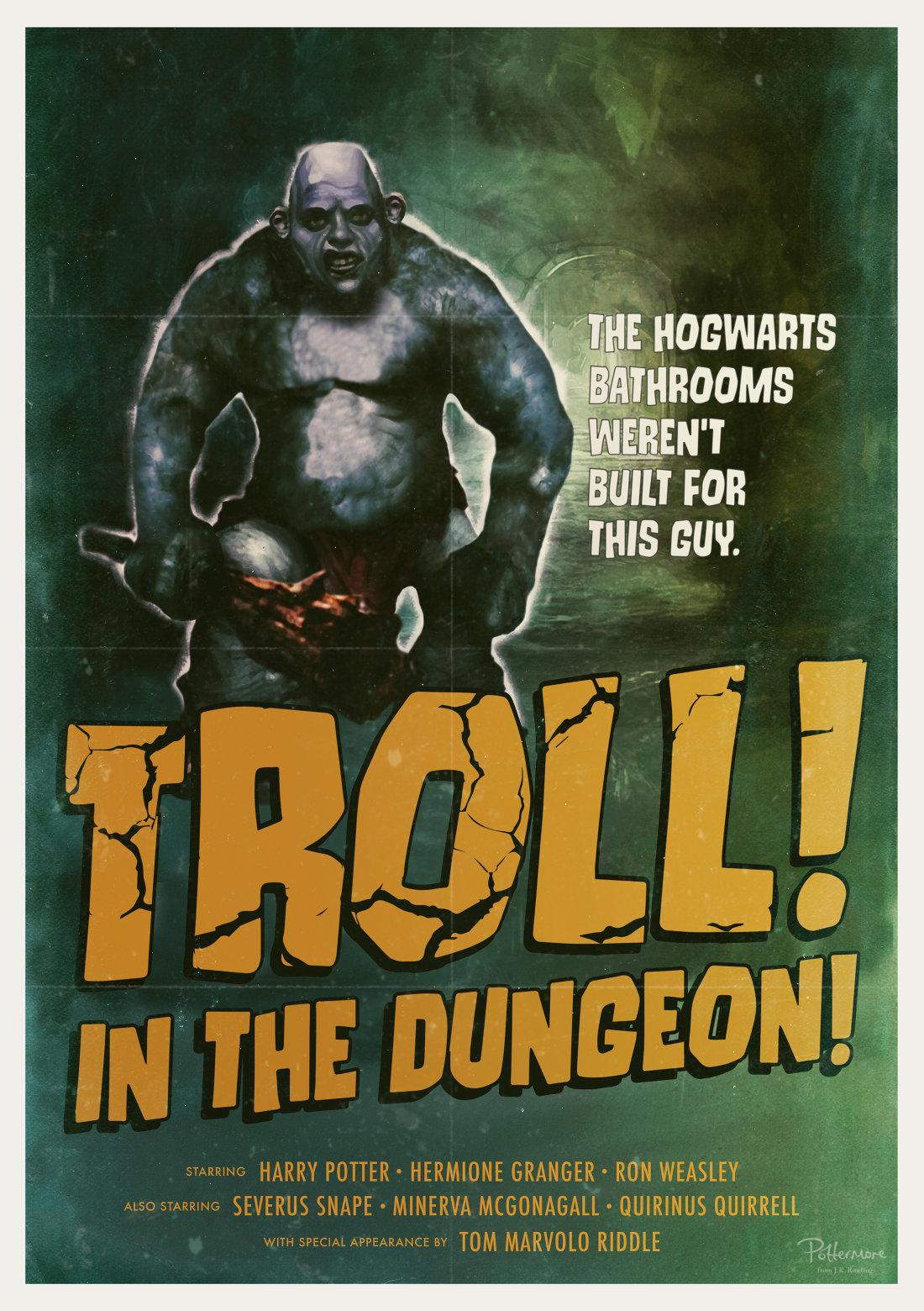 Troll harry potter affiche J.K. rowling