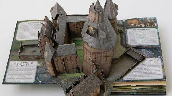 Livre pop up Poudlard Harry Potter idée cadeau noel harry potter