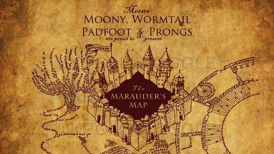 papier peint carte du maraudeur harry potter minalima