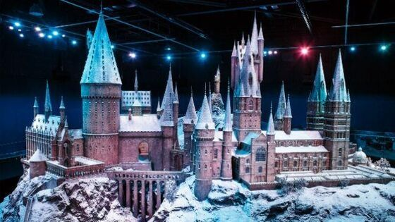 Poudlard sous la neige studios harry potter Londres